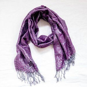 Purple and Silver Shimmer Women's Scarf